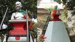 പാലക്കാട് ഗാന്ധി പ്രതിമയിൽ ബിജെപിയുടെ കൊടി കെട്ടിയ സംഭവം; പ്രതി പിടിയിൽ