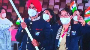 ടോക്യോ ഒളിമ്പിക്സ് ഉദ്ഘാടന ചടങ്ങുകൾ ആരംഭിച്ചു; ഇന്ത്യൻ പതാകയേന്തി മേരി കോമും മൻപ്രീത് സിംഗും